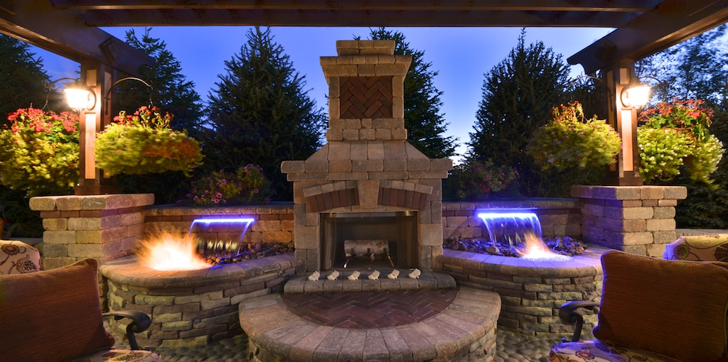 Fire and Water Features by Elemental Landscapes, Ltd.